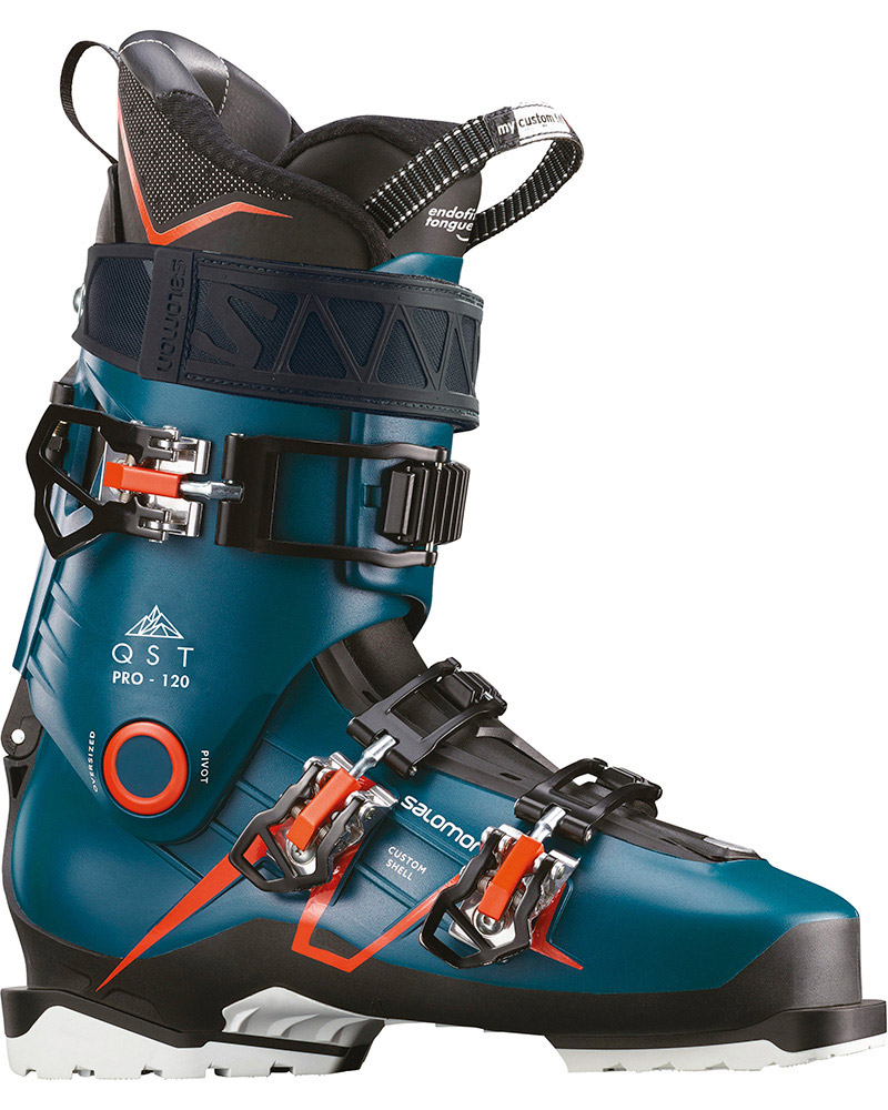 Salomon Men's QST PRO 120 Ski Boots 2019 / 2020 Maroccan Blue/Black/Orange 0