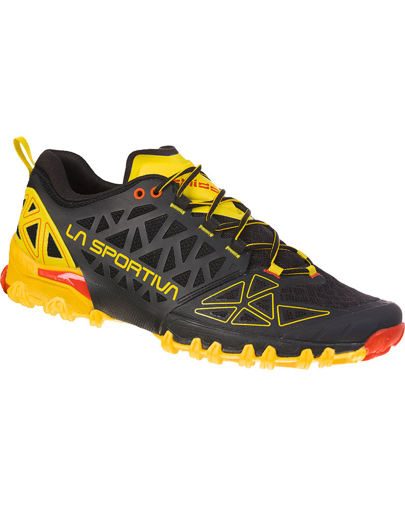 La Sportiva Men's Bushido II Trail Running Shoes Black/Yellow 0