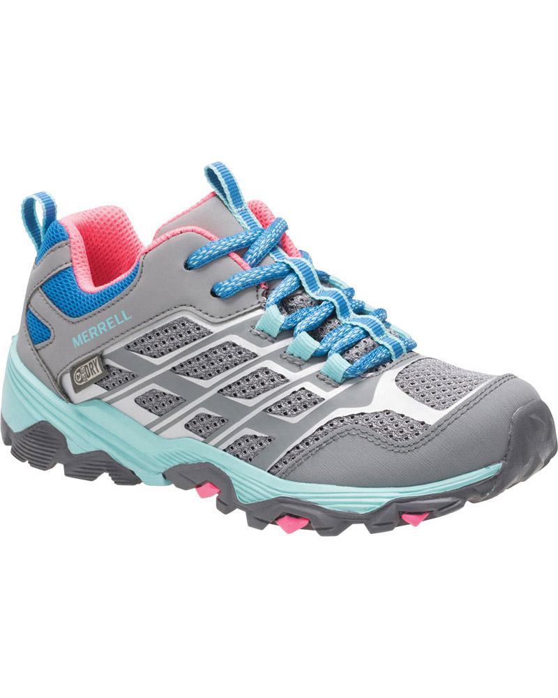 Merrell Kids' Moab FST Low Waterproof Walking Shoes 0