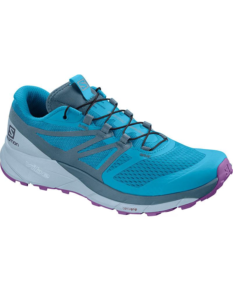 Salomon Women's Sense Ride 2 Trail Running Shoes Cyan Blue/Mallard Blue/Cashmere Blue 0