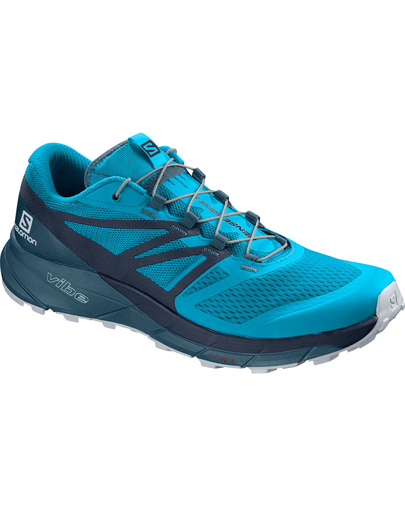 Salomon Men's Sense Ride 2 Trail Running Shoes Hawaiian Ocean/Navy Blazer/Mallard Blue 0