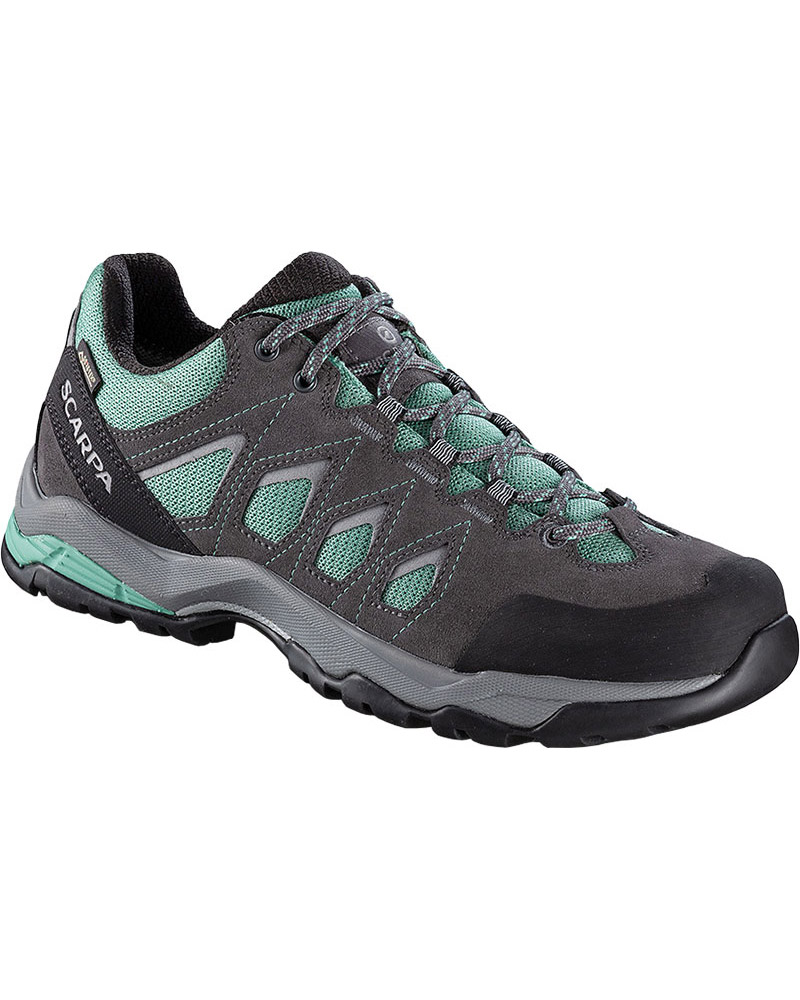 Scarpa Women's Moraine GORE-TEX Walking Shoes Storm Grey/Lagoon Green 0