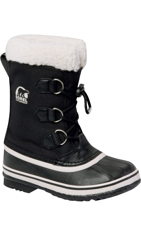 Sorel Kids' Yoot Pac Nylon Snow Boots Black 0