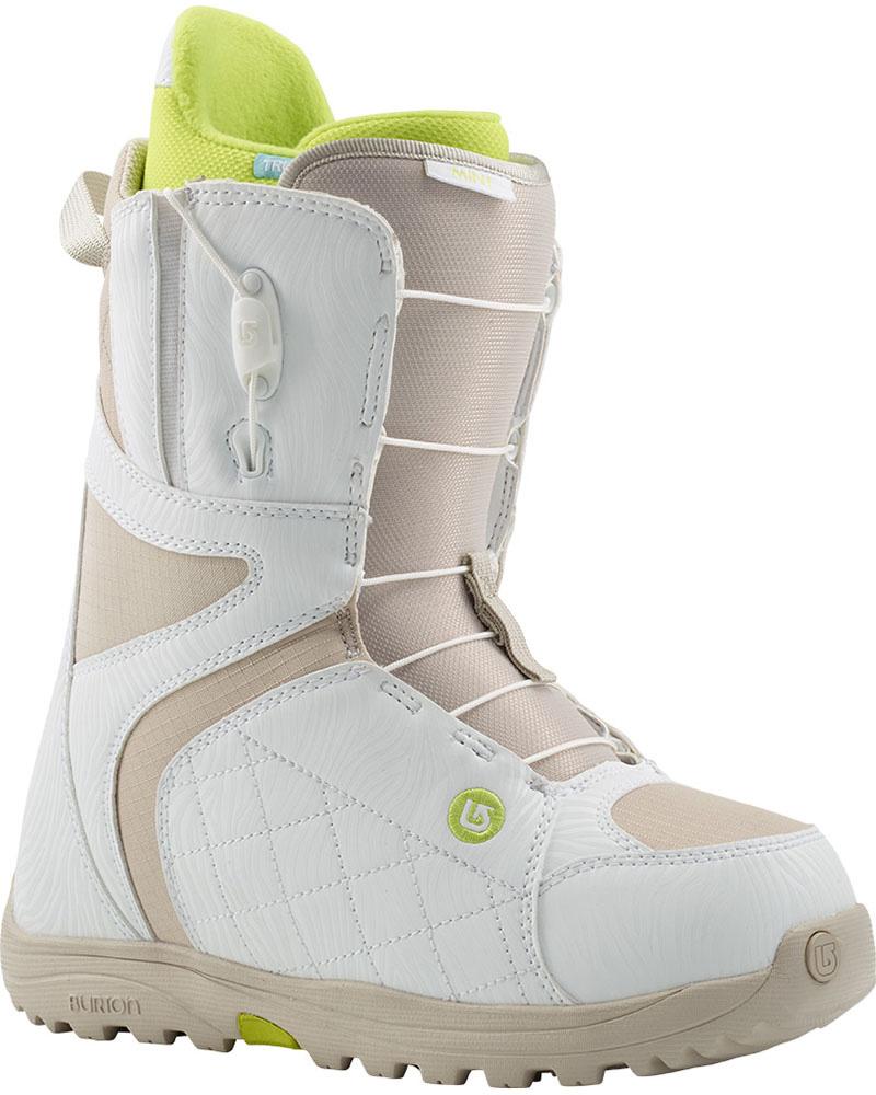 Burton Women's Mint Snowboard Boots 2014 / 2015 White/Tan 0
