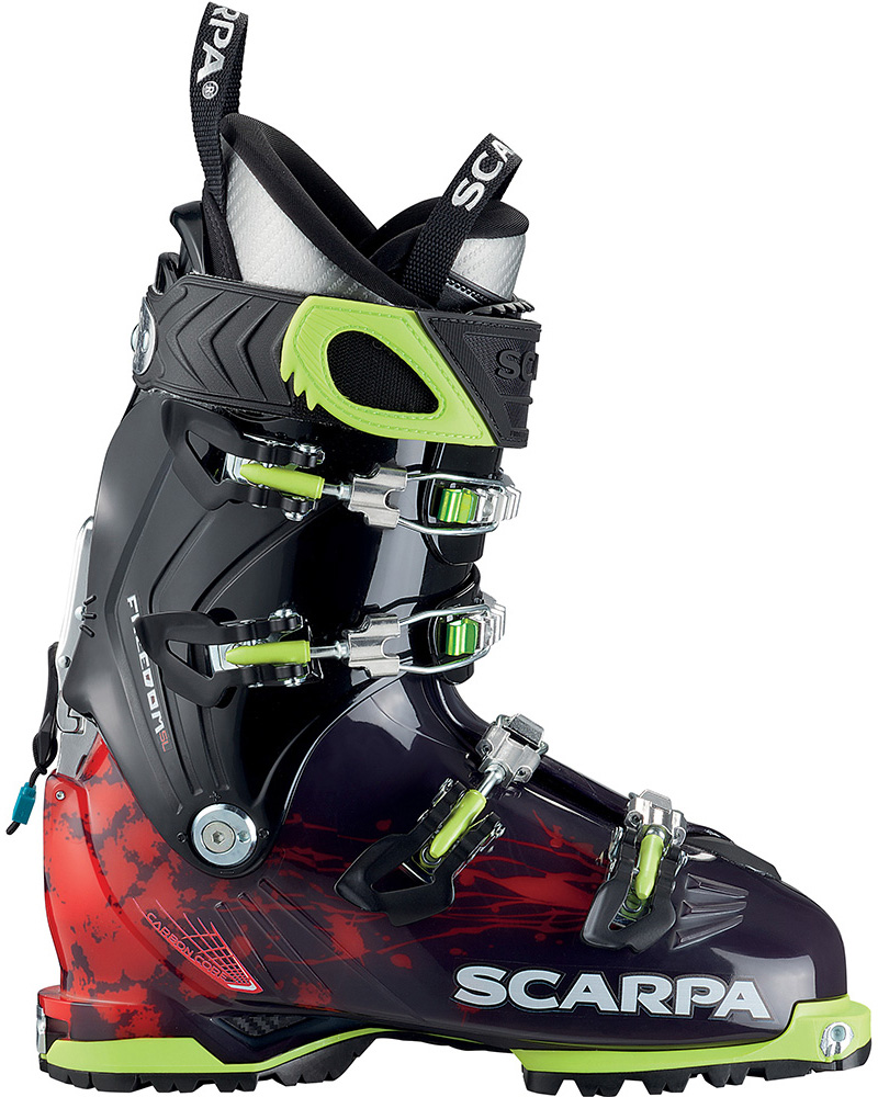 Scarpa Freedom SL Ski Boots 2018 / 2019 Antracite - Red Orange 0