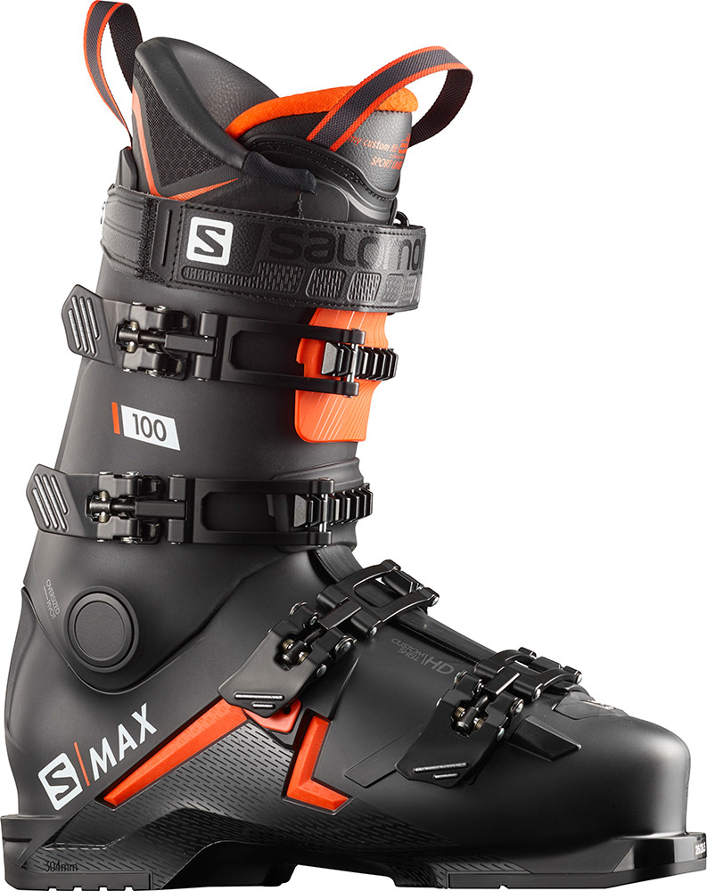 Salomon Men's S/MAX 100 Ski Boots 2019 / 2020 Black/Orange/White 0