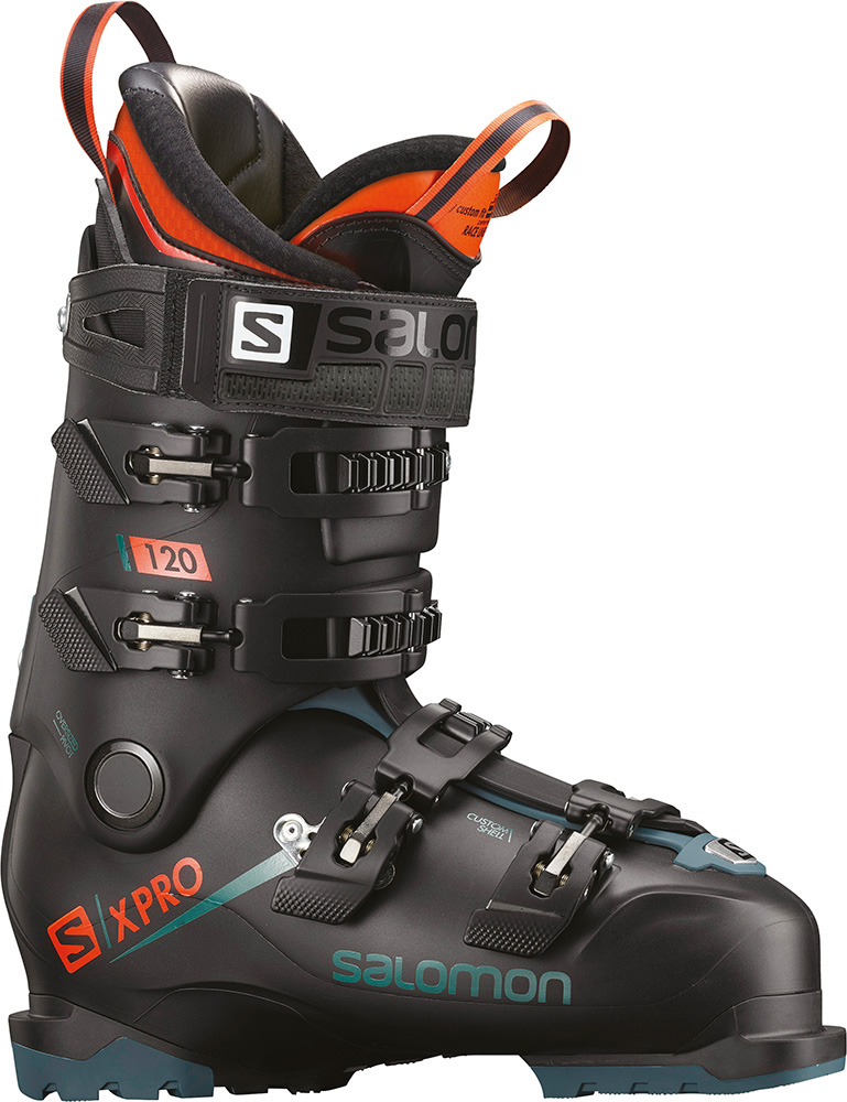 Salomon Men's X PRO 120 Ski Boots 2018 / 2019 Black/Maroccan Blue/Orange 0