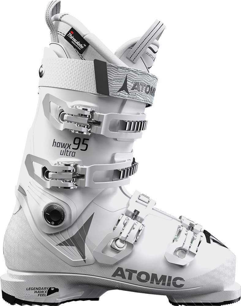 Atomic Women's Hawx Ultra 95 W Ski Boots 2018 / 2019 White/Grey 0