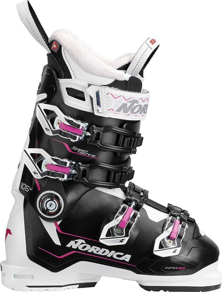 Nordica Women's Speedmachine 105 W Ski Boots 2019 / 2020 Black/White/Fucsia 0