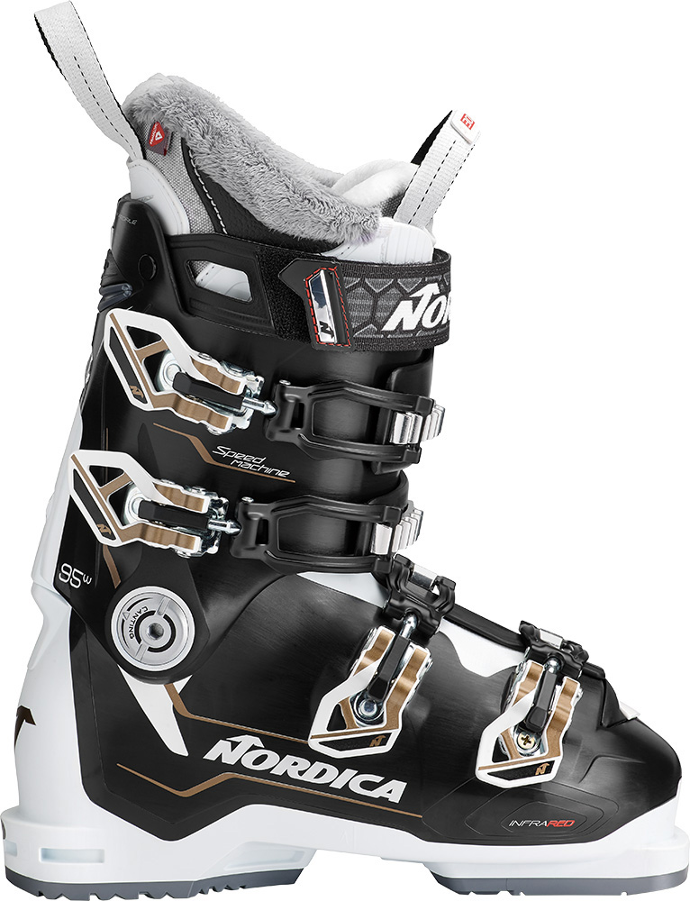 Nordica Women's Speedmachine 95 W Ski Boots 2018 / 2019 Black/White/Bronze 0
