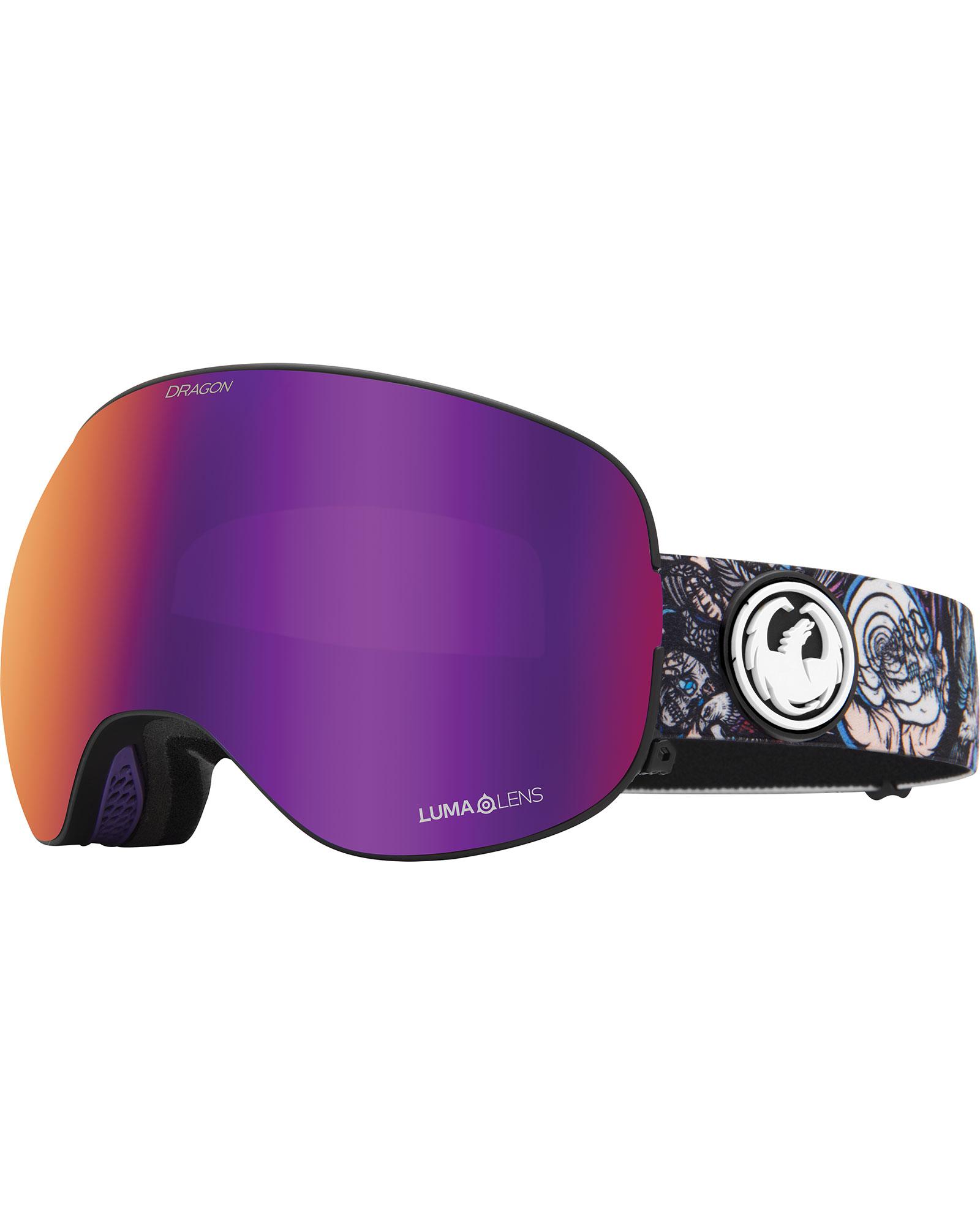 Dragon X2 Schoph D.A.P / Lumalens Purple Ionized + Lumalens Amber Goggles 2020 / 2021 0