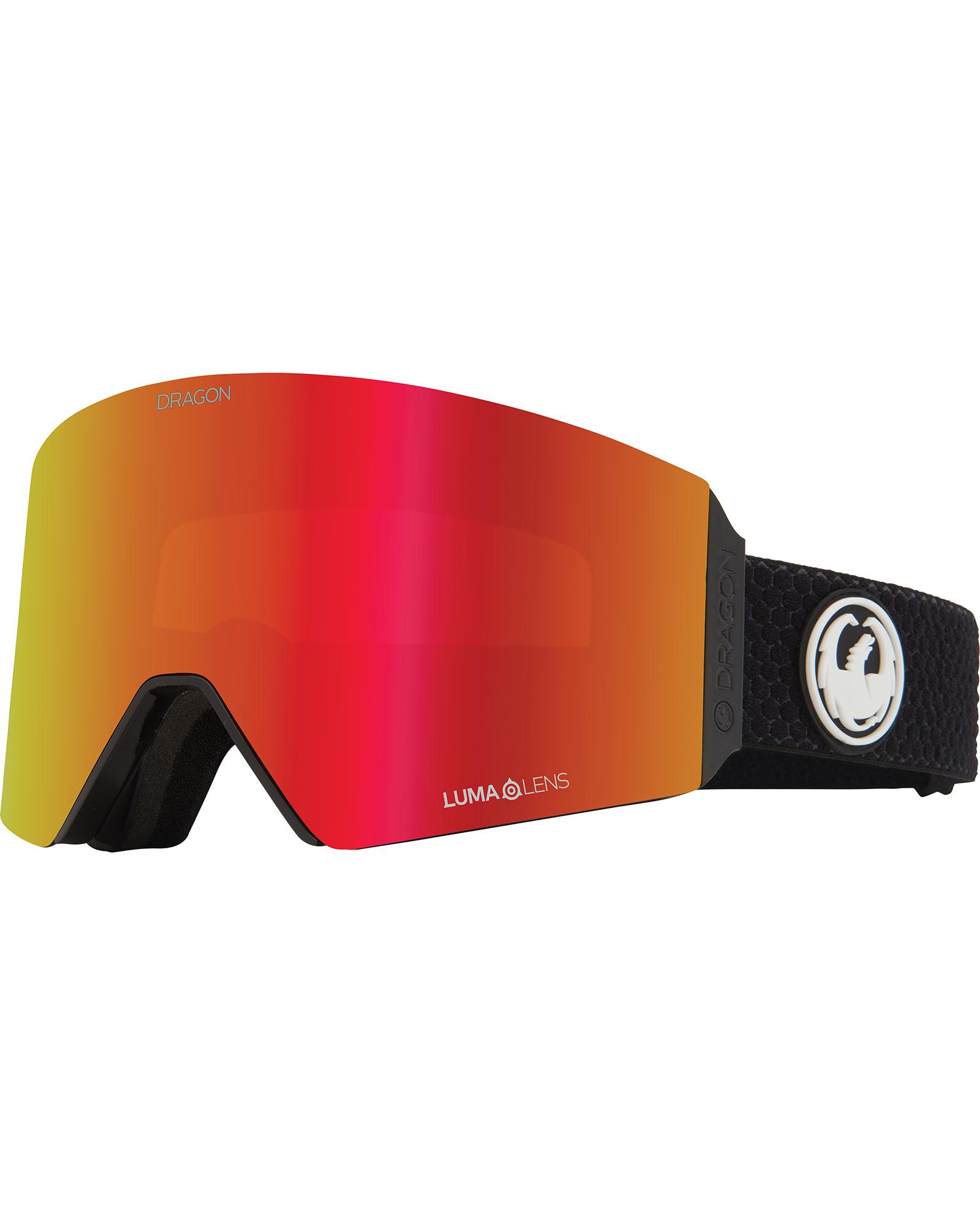 Dragon RVX Split / Lumalens Red Ionized + Lumalens Light Rose Goggles 2020 / 2021 0