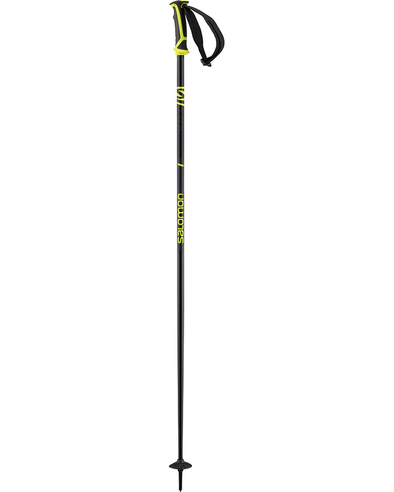 Salomon X 08 Ski Poles 2019 / 2020 Black/Neon Yellow 0