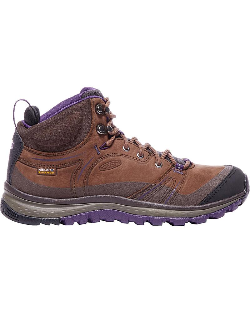 Keen Women's Terradora Leather Mid Waterproof Walking Boots Scotch/Mulch 0