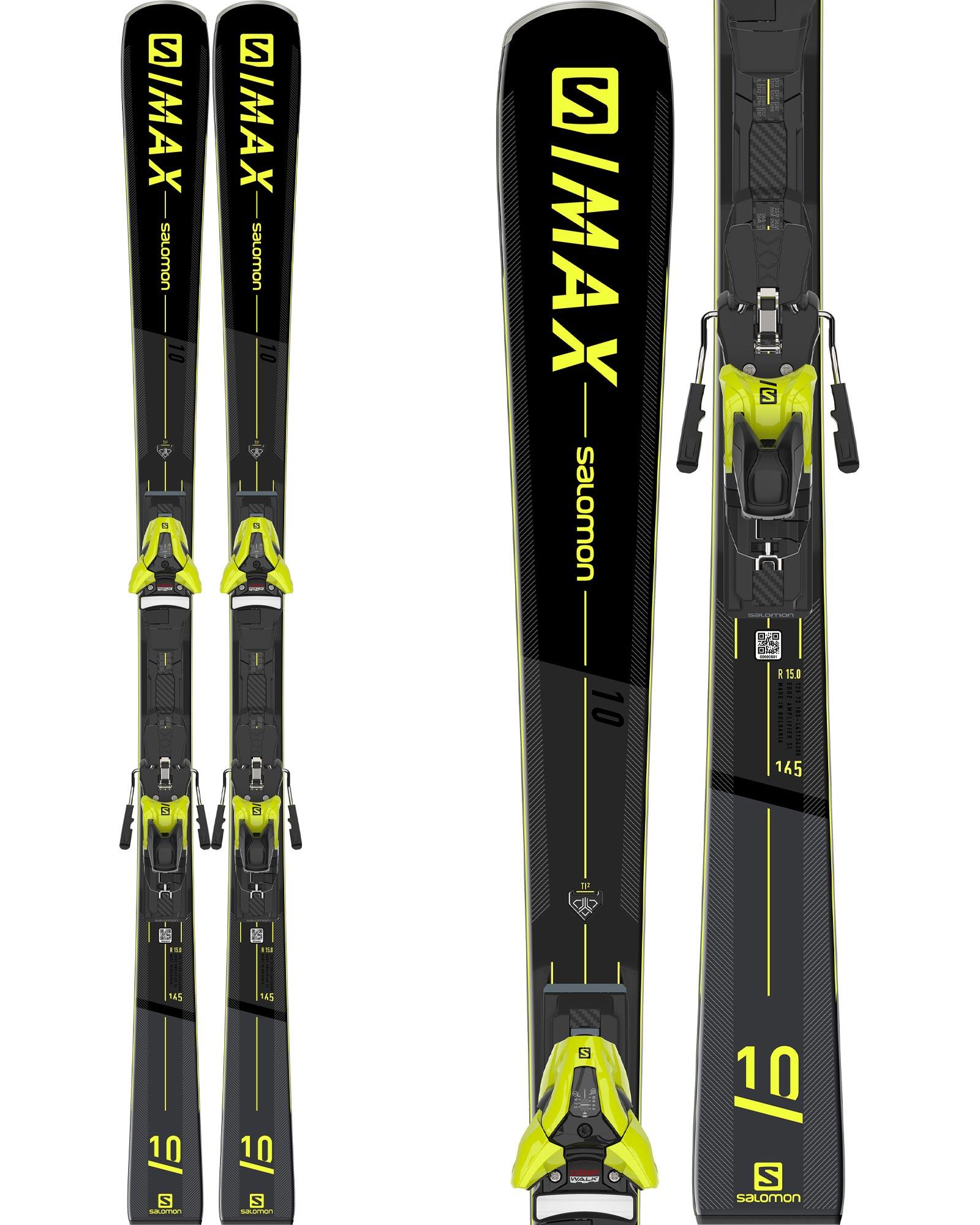 Salomon Men's S/Max 10 Piste Skis + Z12 GW F80 Bindings 2020 / 2021 0