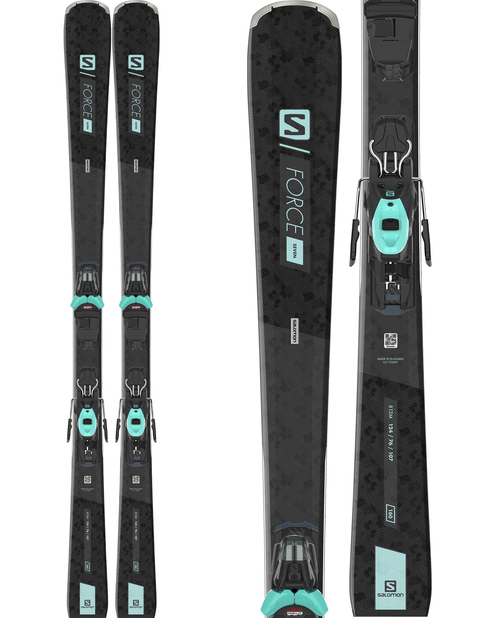 Salomon Women's S/Force 7 Piste Skis + M10 GW L80 Bindings 2020 / 2021 0