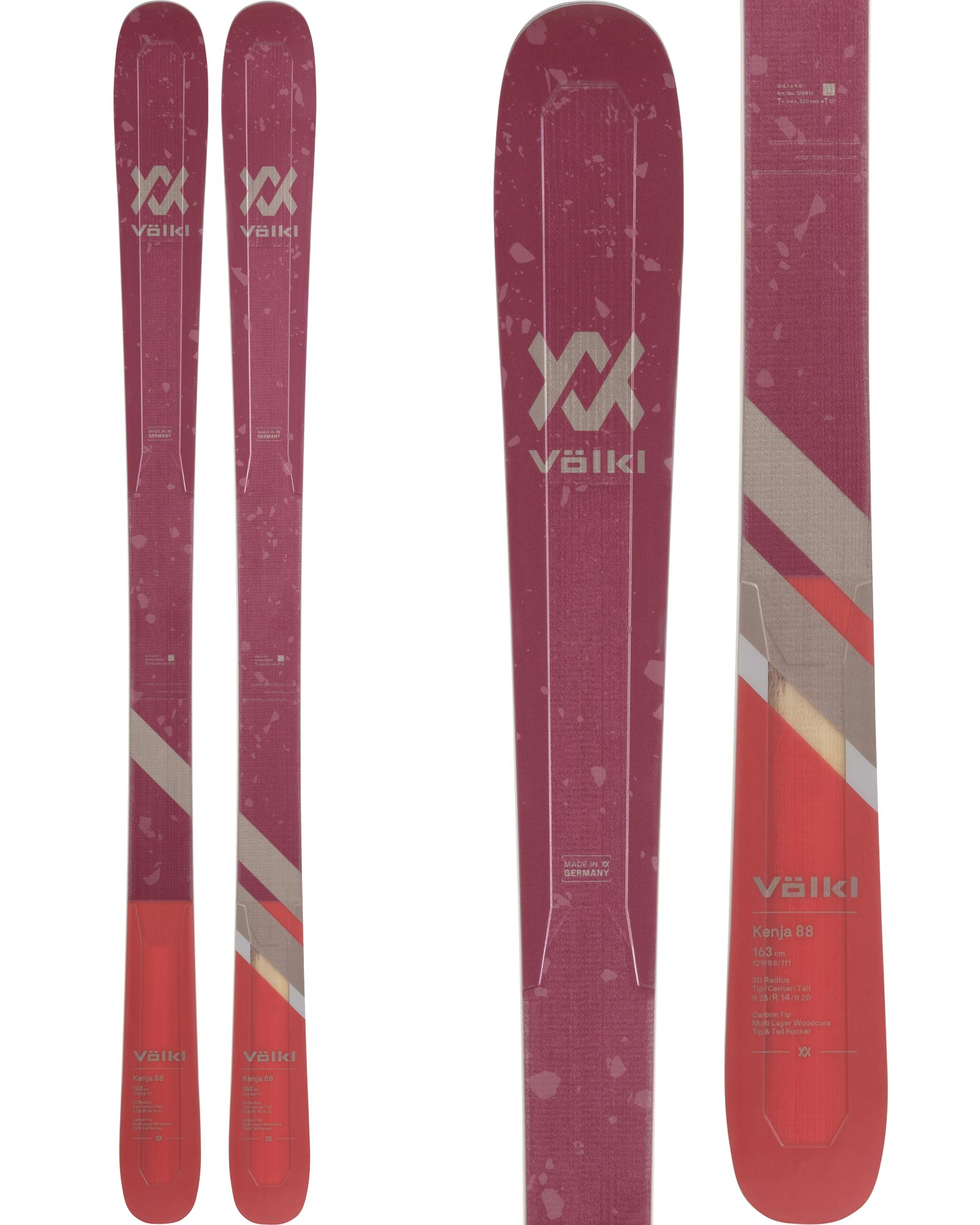 Volkl Women's Kenja 88 All Mountain Skis 2020 / 2021 0