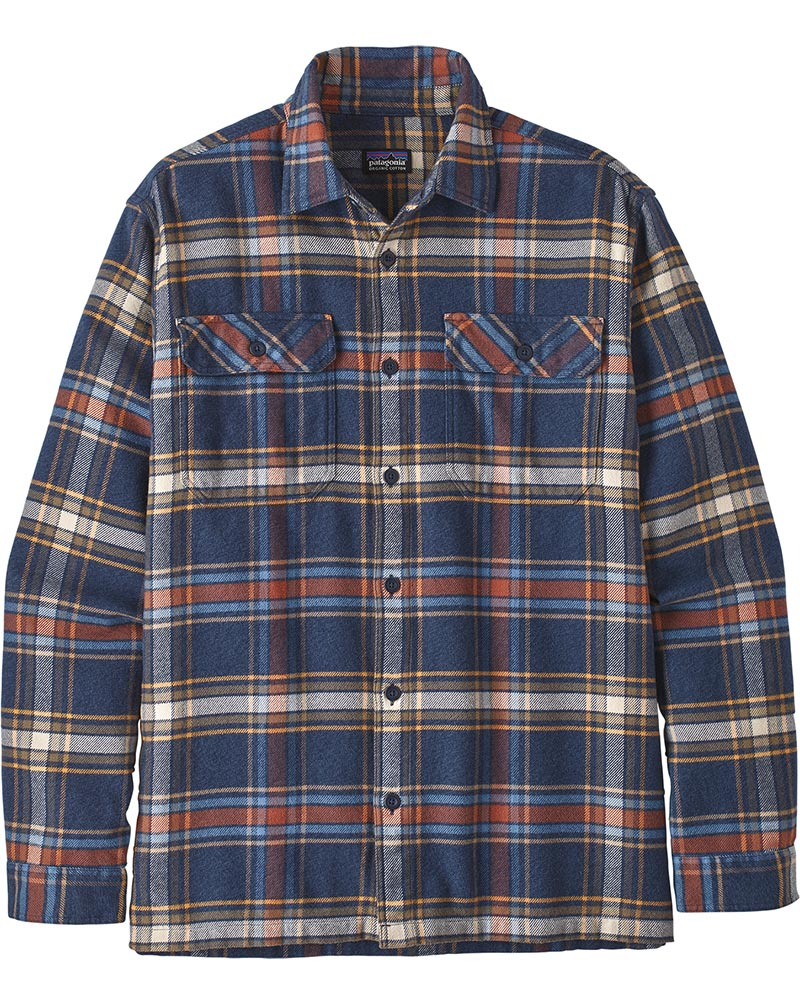 Patagonia Men's L/S Fjord Flannel Shirt Defender/Neo Navy 0