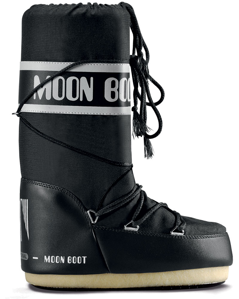 Moon Boot Women's Nylon Snow Boots Black 0