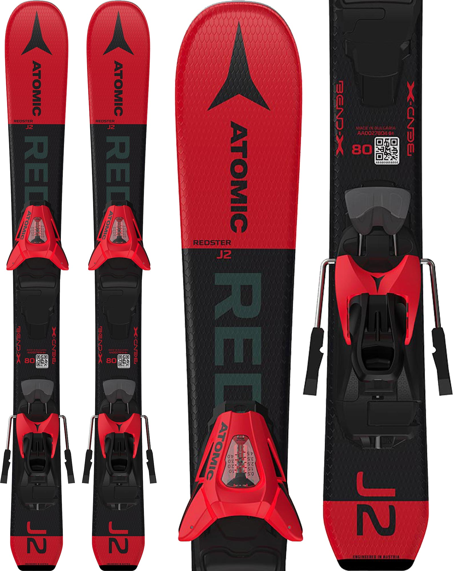 Skiing Atomic Redster J2 Youth Skis + C 5 GW J2 80-90 Bindings