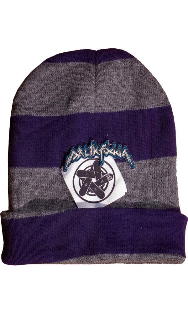 Dalikfodda Night Crawler Stripe Hat Purple/Grey 0