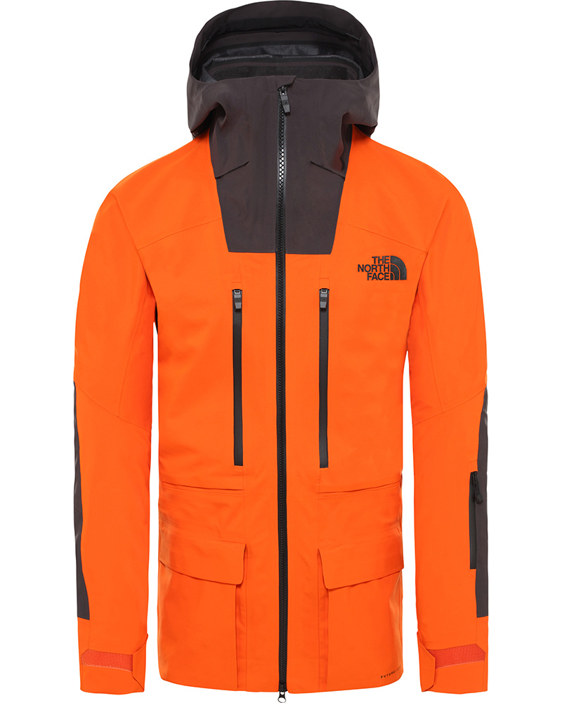 The North Face Men's Steep Series A-Cad FUTURELIGHT Ski Jacket Papaya Orange/Weathered Black 0