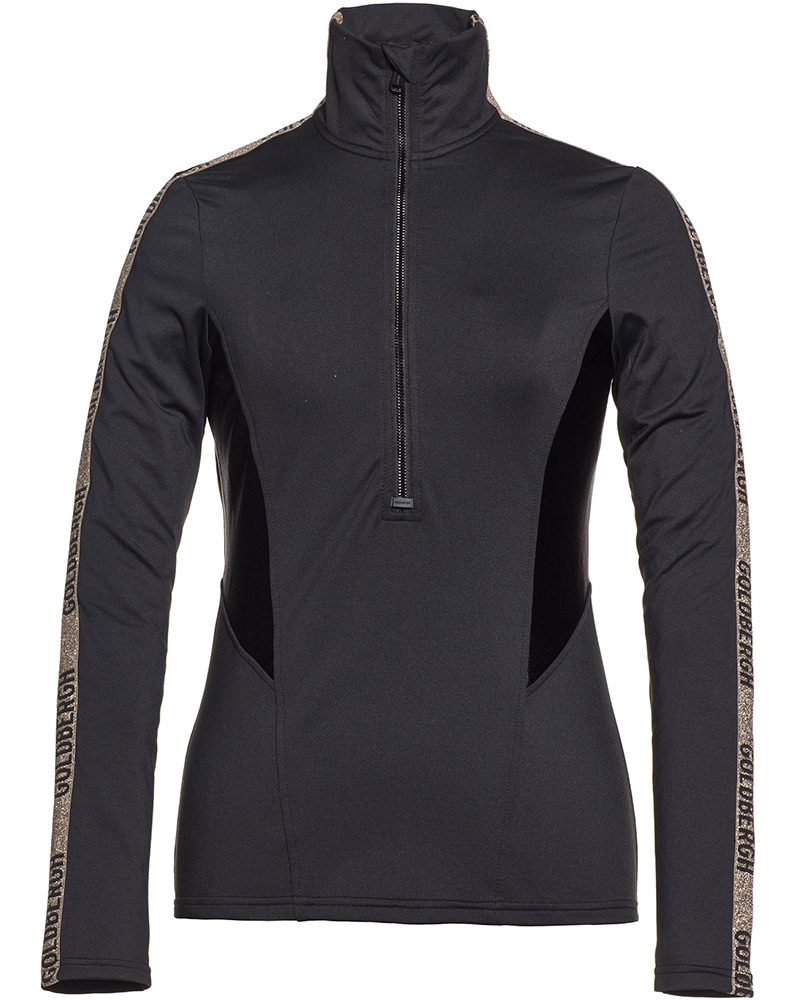 Goldbergh Women's Arisa Zip Neck Black 0