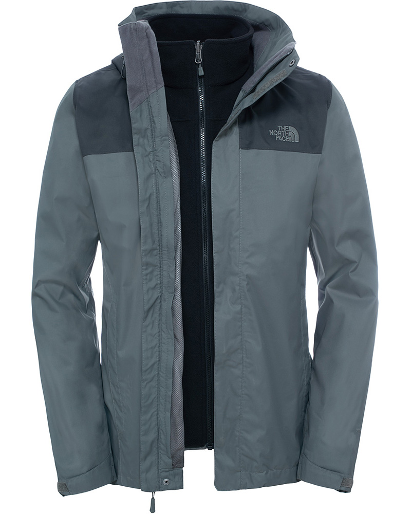 The North Face Men's Evolve Triclimate 3 in 1 DryVent Jacket Fusebox Grey 0