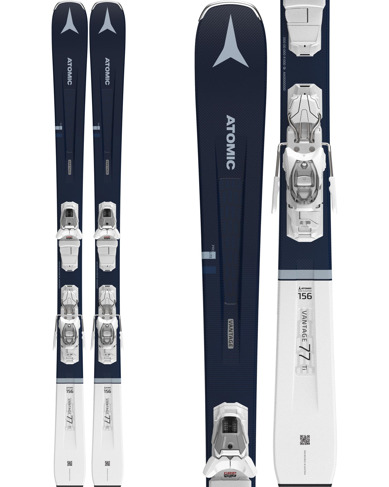 Atomic Women's Vantage 77 Ti All Mountain Skis + M 10 GW Bindings 2020 / 2021 0