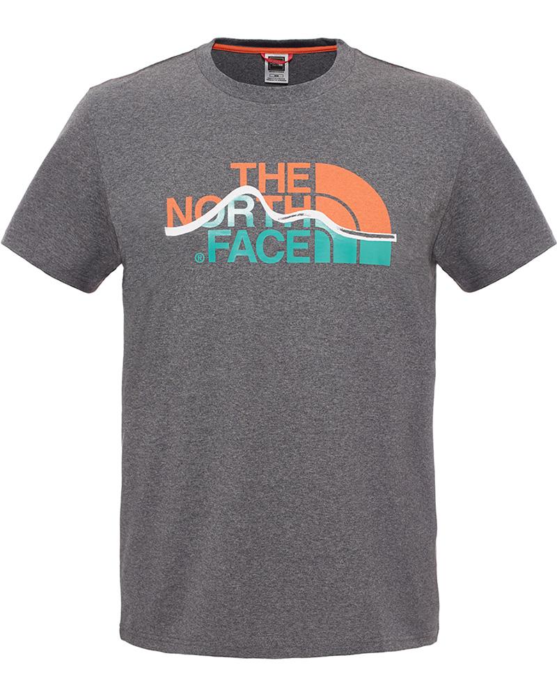 The North Face Men's S/S Mountain Line T-Shirt TNF Medium Grey 0
