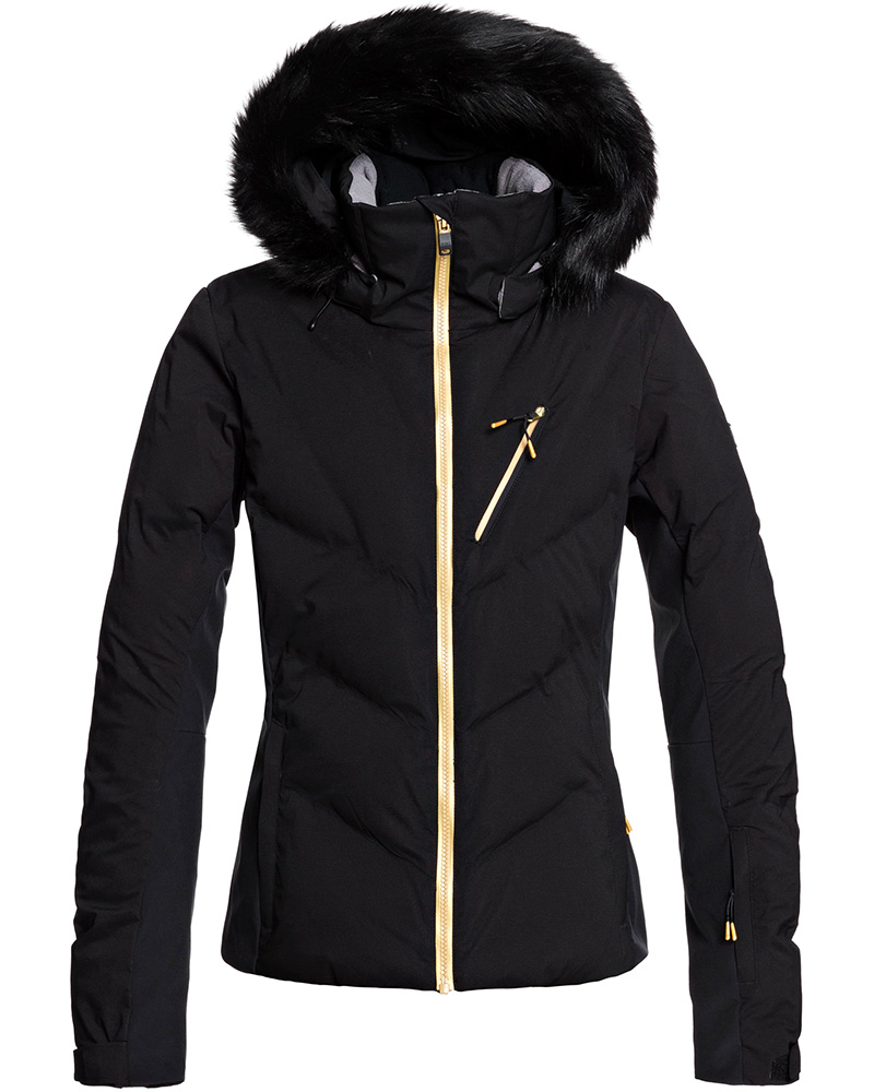 Roxy Women's Snowstorm Plus Ski Jacket True Black 0