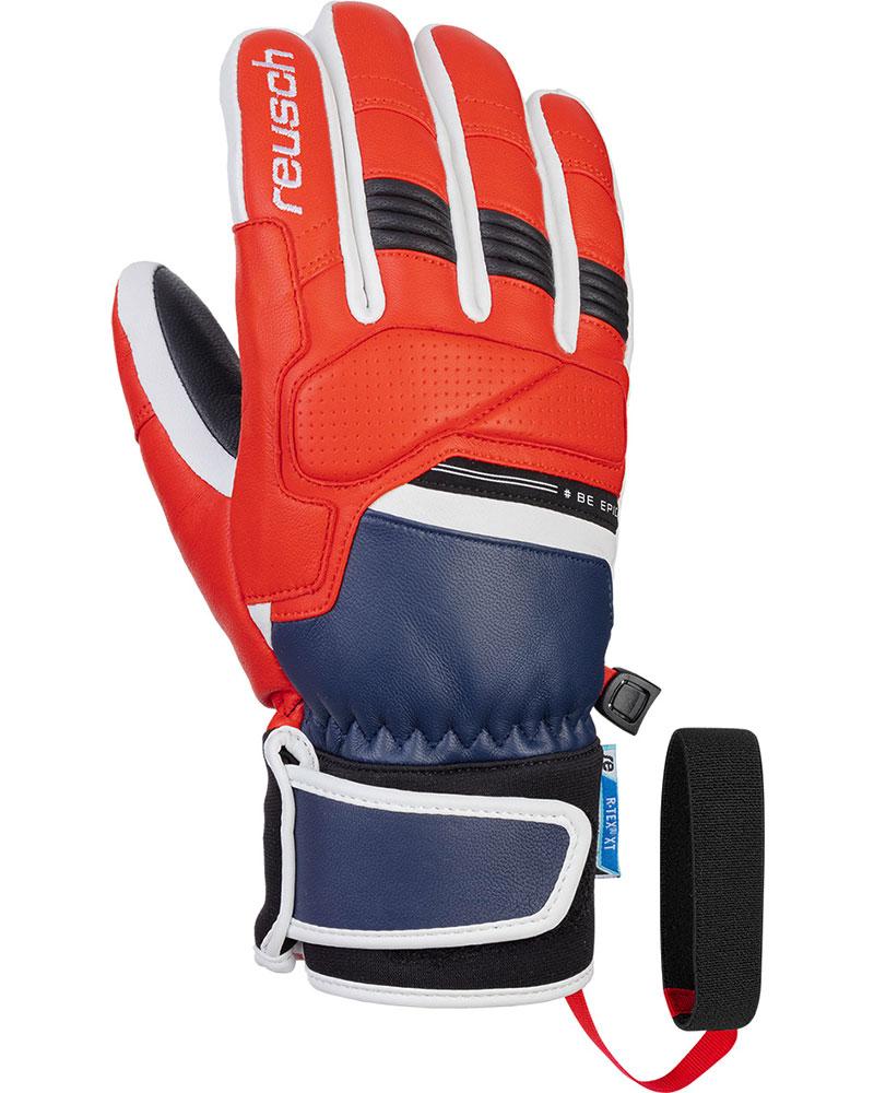 Reusch Men's Be Epic RTEX Ski Gloves Dress Blue/Fire Red 0