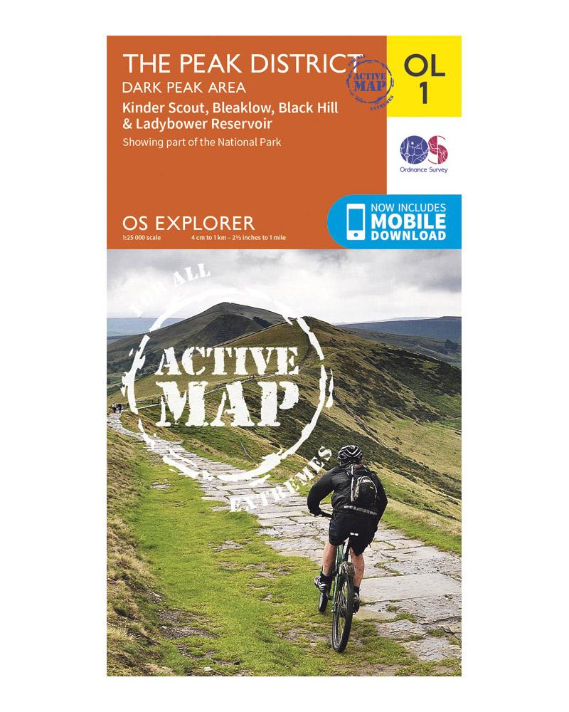 Ordnance Survey Active Explorer OL1: The Peak District – Dark Peak Area  0