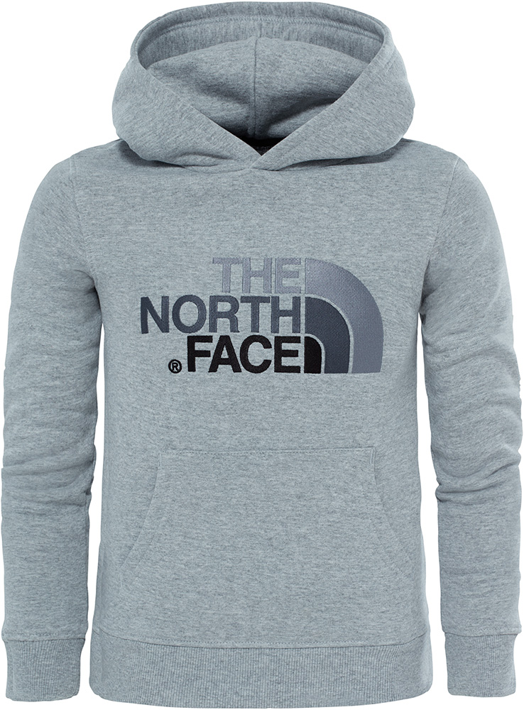 The North Face Youth Drew Peak Hoodie Light Grey Heather 0