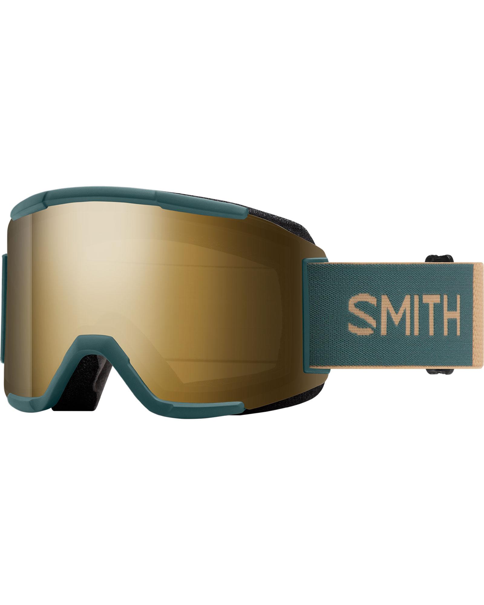 Smith Squad Spruce/Safari / ChromaPop Sun Black Gold Mirror + Yellow Goggles 2020 / 2021 0