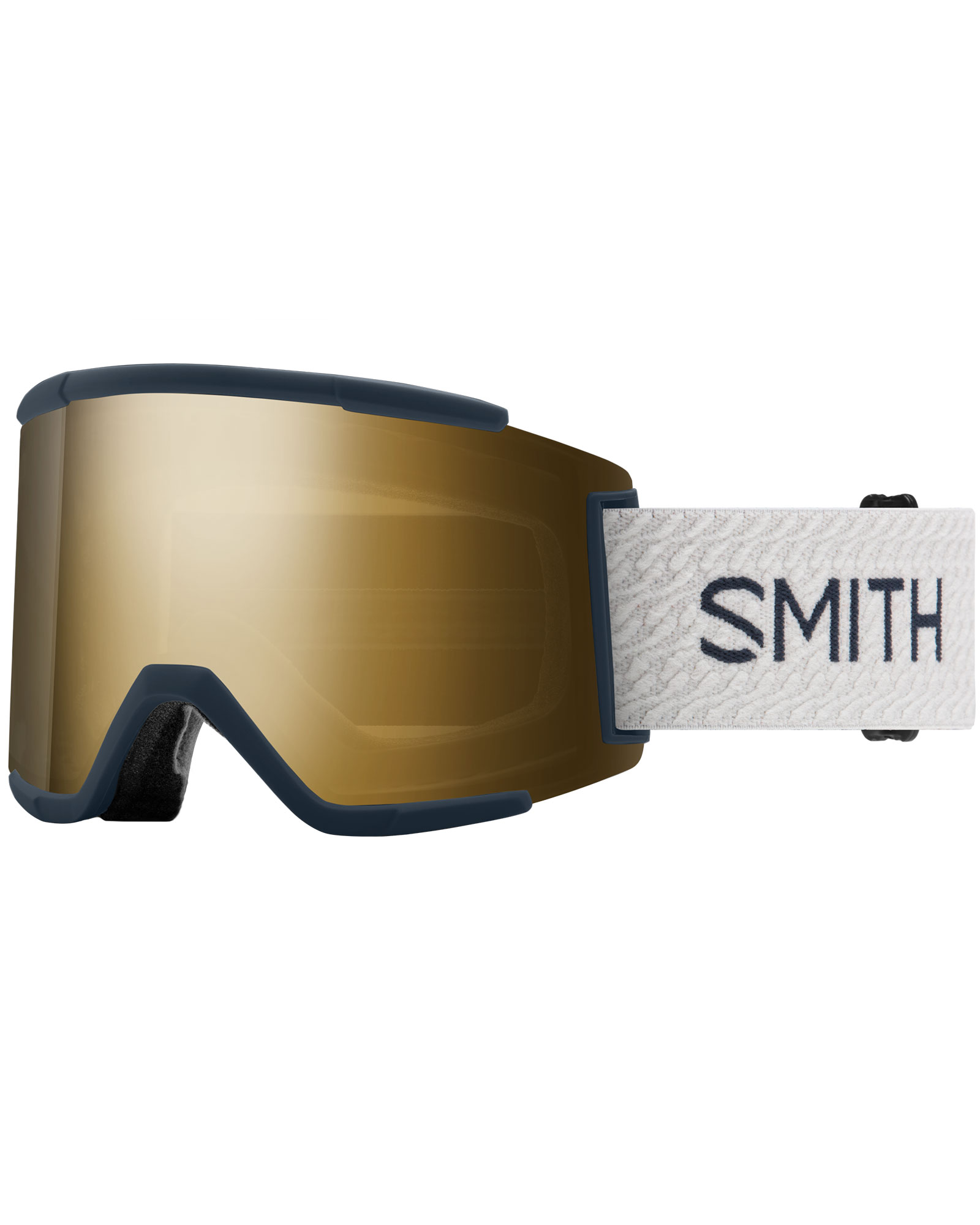 Smith Squad XL French Navy Mod / ChromaPop Sun Black Gold Mirror + ChromaPop Storm Rose Flash Goggles 2020 / 2021 0
