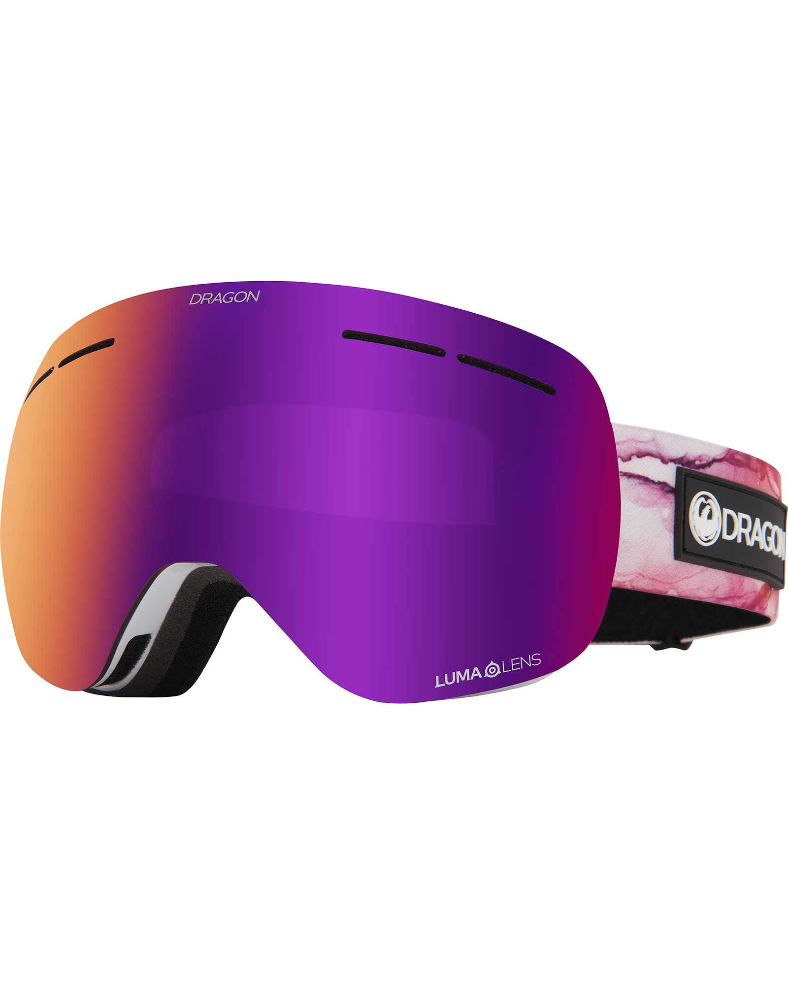 Dragon Women's X1s Merlot / Lumalens Purple Ionized + Lumalens Light Rose Goggles 2020 / 2021 0