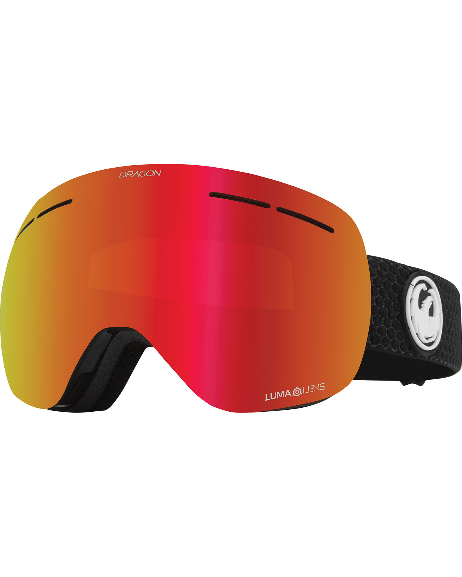 Dragon X1s Split / Lumalens Red Ionized + Lumalens Light Rose Goggles 2020 / 2021 0