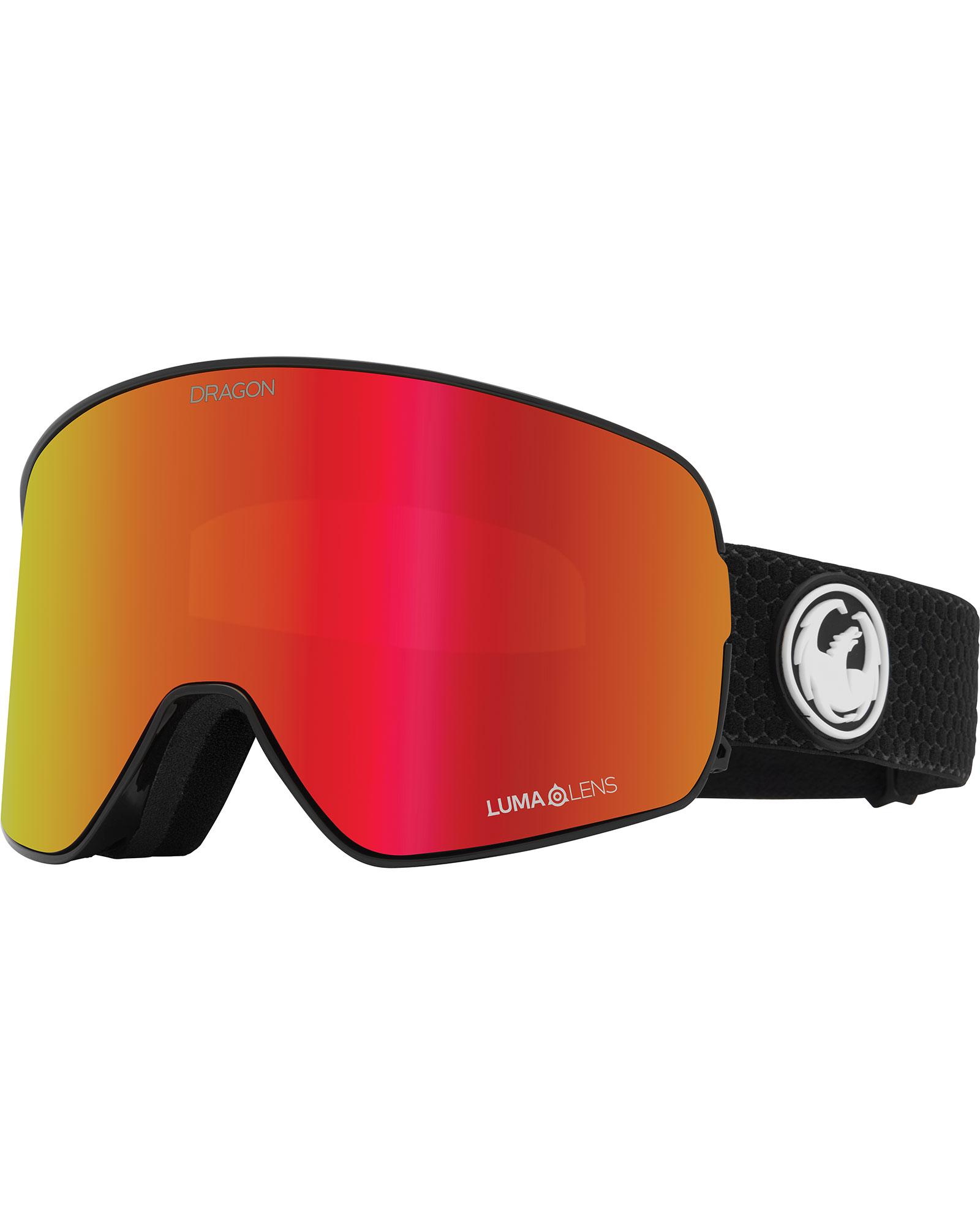 Dragon NFX2 Split / Lumalens Red Ionized + Lumalens Light Rose Goggles 2020 / 2021 0