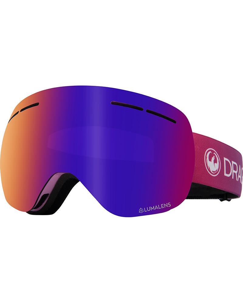 Dragon Women's X1s Candy / Lumalens Purple Ionized + Lumalens Amber Goggles 2019 / 2020 0