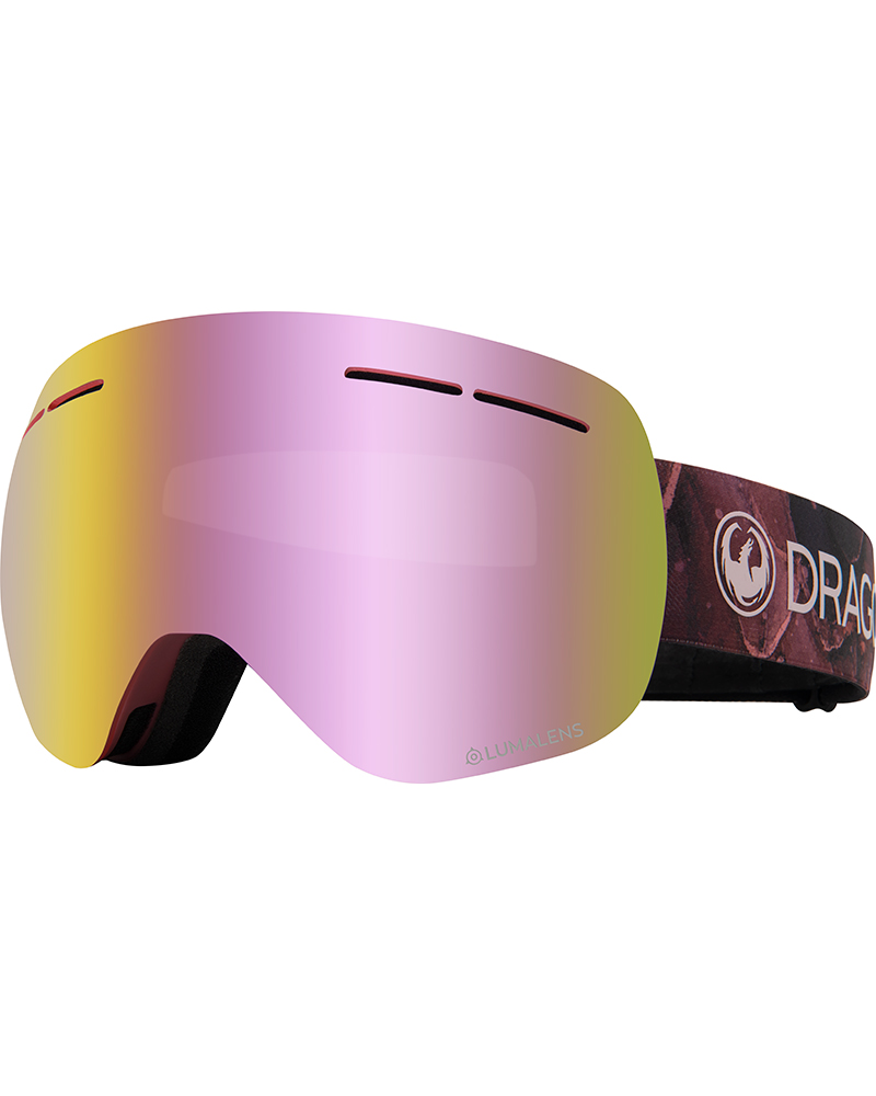 Dragon Women's X1s Rose / Lumalens Pink Ionized + Lumalens Rose Goggles 2019 / 2020 Rose 0