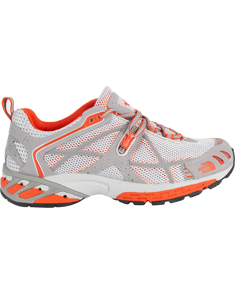 The North Face Women's Arnuva 50 Trail Running Shoes Spackle Grey/Batilo Orange 0