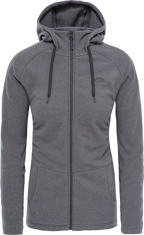 The North Face Women's Mezzaluna Full Zip Hoody Graphite Grey Stripe 0