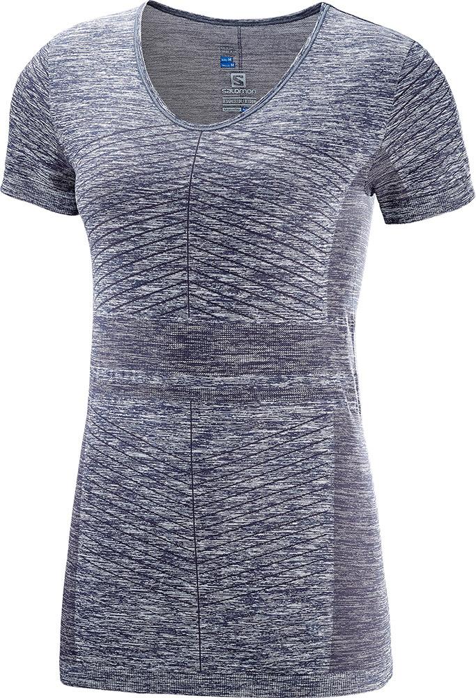 Salomon Women's Elevate Move'On AdvancedSkin S/S T-Shirt Graphite 0