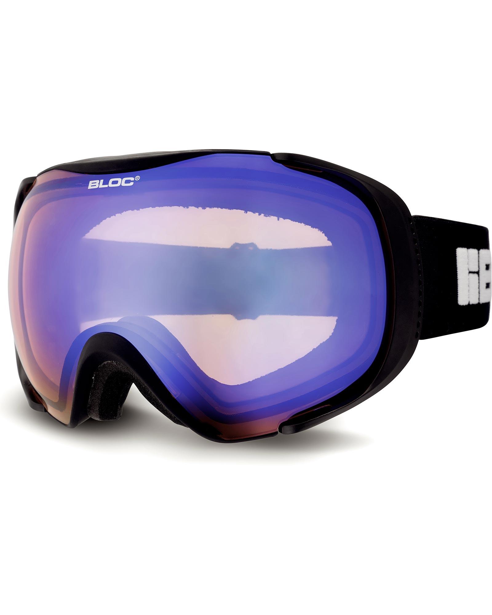 Bloc Mask OTG Matte Black / Brown Blue Mirror Goggles 2020 / 2021 0