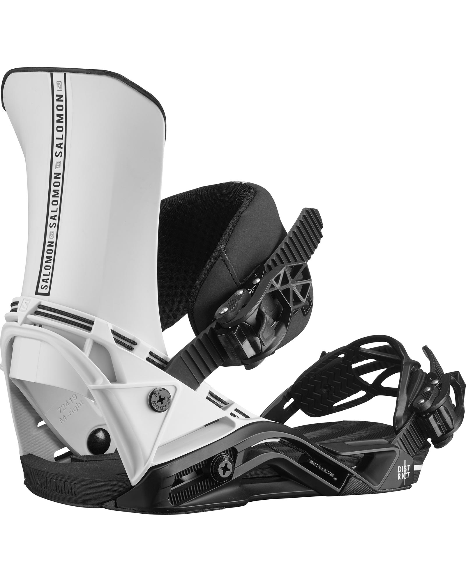 Salomon Snowboards Men's District Snowboard Bindings 2020 / 2021 0