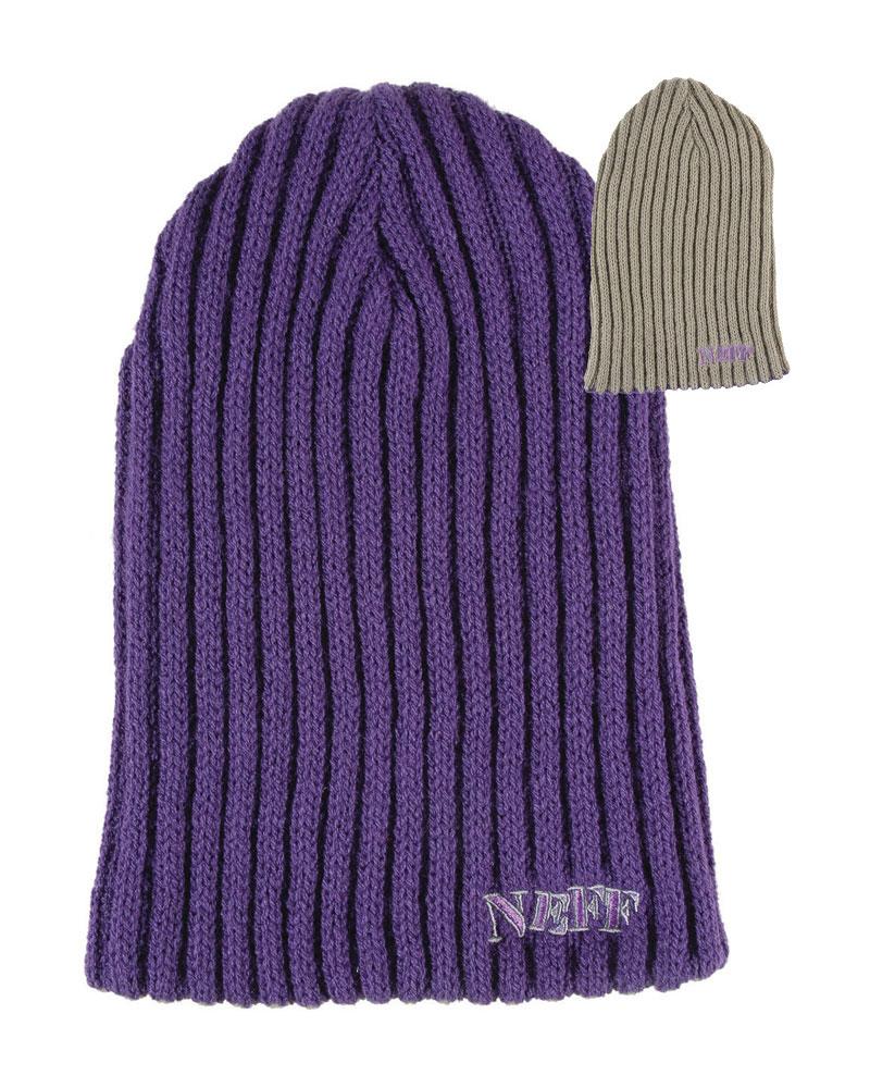 Neff Rezi-Flip Beanie Purple/Grey 0