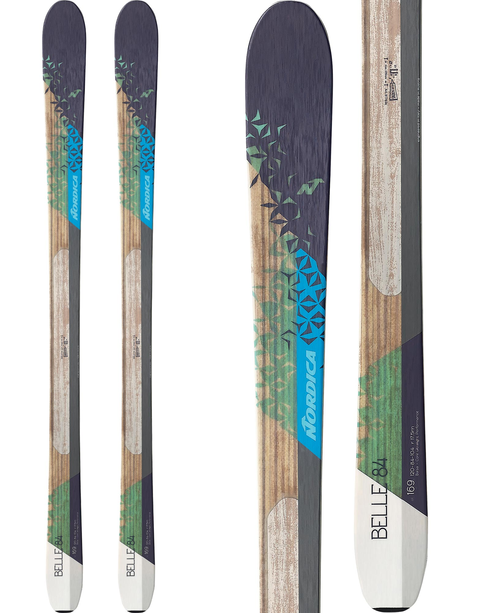 Nordica Women's Belle 84 All Mountain Skis 2016 / 2017 0