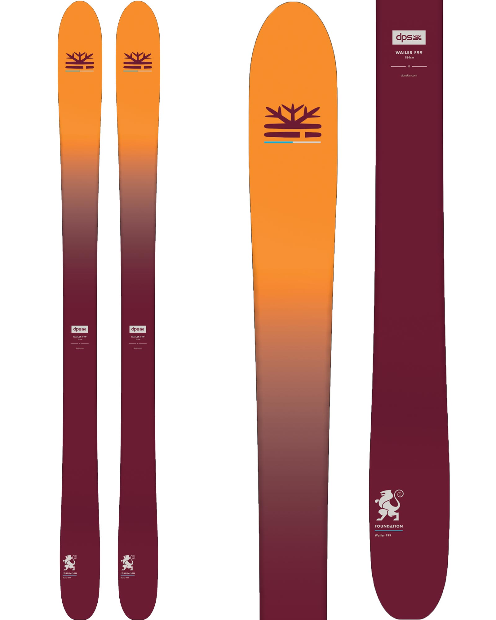 DPS Men's Wailer F99 All Mountain Skis 2018 / 2019 0