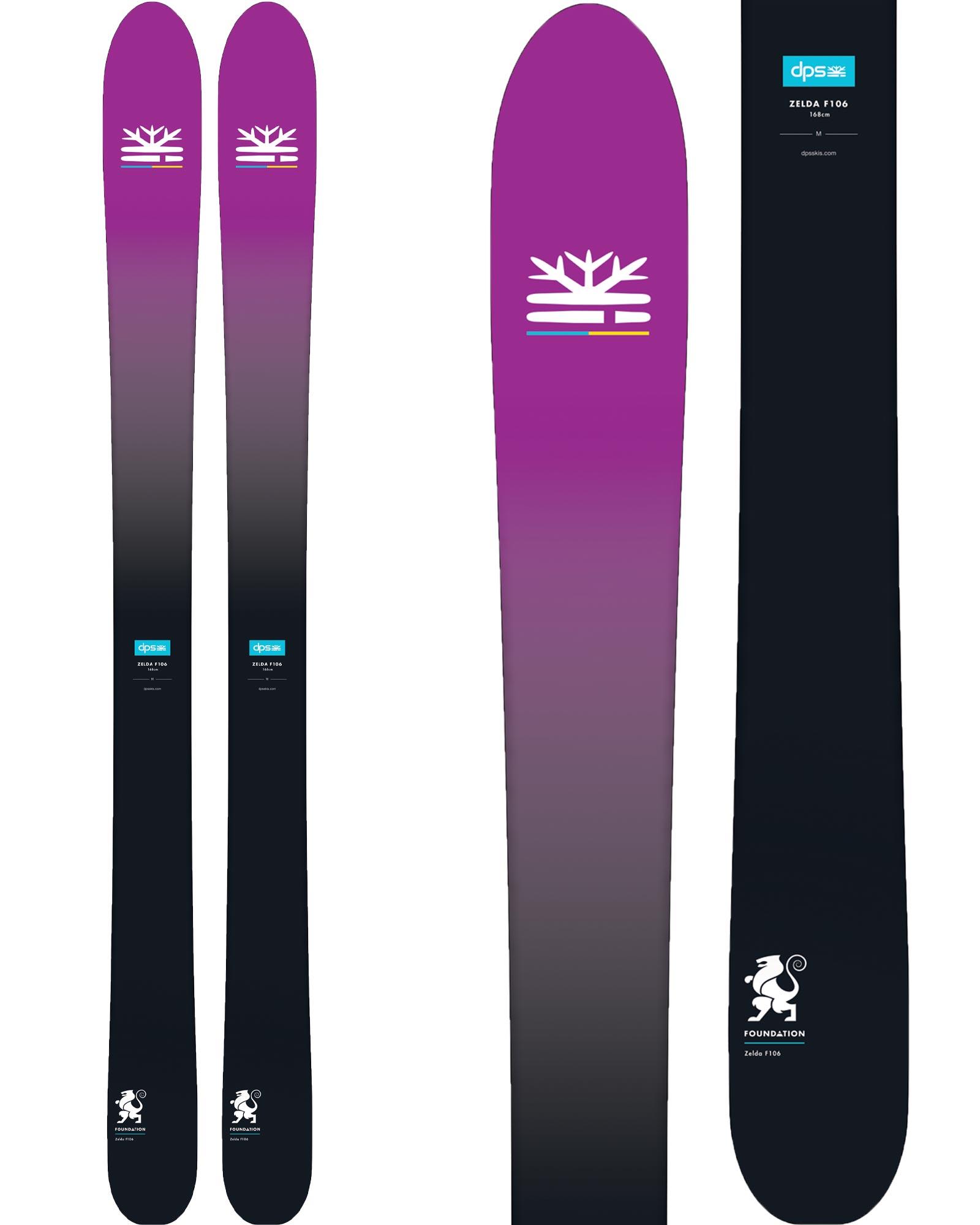 DPS Women's Zelda F106 Freeride Skis 2018 / 2019 0
